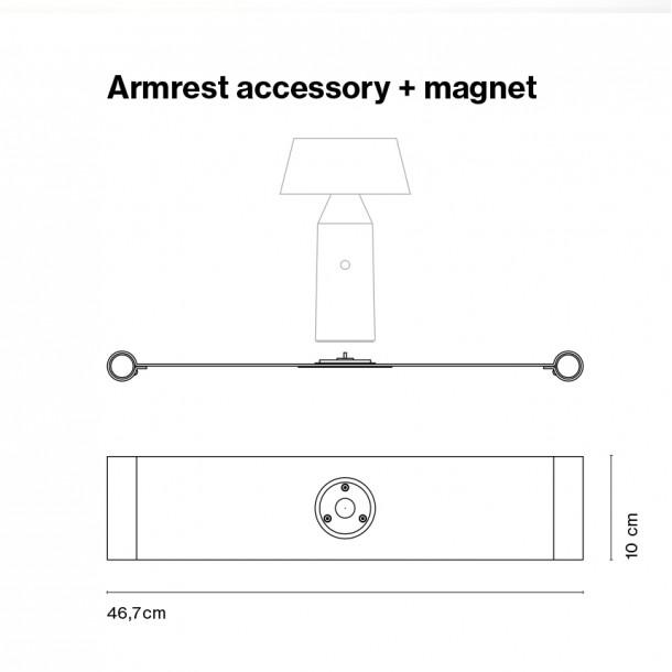 Armlene tilbehør + magnet
