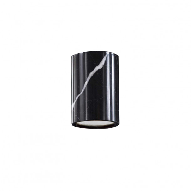 Solid Cylinder Taklampe Nero Marquina Marble